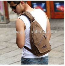 Han edition canvas and leather sling bag