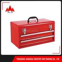 Multi Automative Storage Drawer Portable Locking Steel Chest 2 Drawer Portable Mechanics Tool Box Chest for Sockets Wrenches