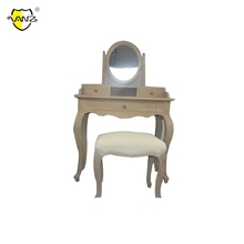 CABW16606 Best Quality Low Price wooden antique dressing table with mirror and stool