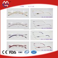 Rimless Ready Made Good Titanium Optical eyeglasses frame,optical frames manufacturers in china