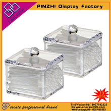 Customized high polished small clear acrylic square box