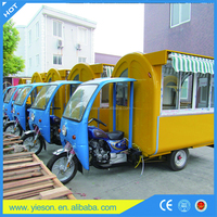 Ice Cream Popsicle Car Scooters Gasoline Motorcycle Food Cart , Mobile Snack Cart For Fast Food