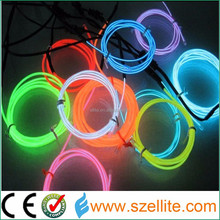 Wholesale super bright long life waterproof bendable flowing light el wire