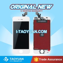 LCD mobile phone screens for iPhone 5 with front camera + home button