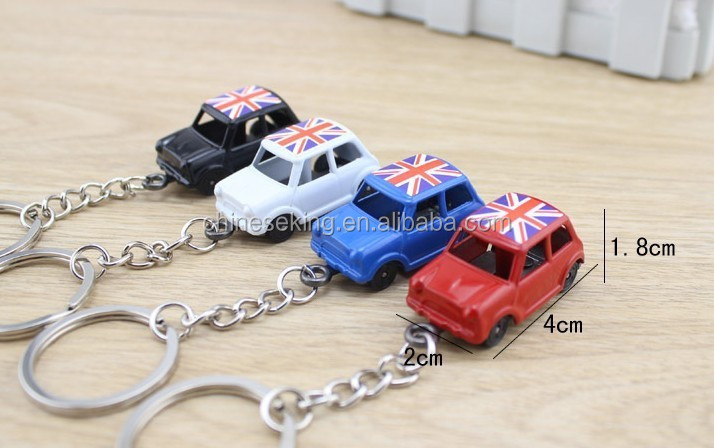 England taxi model mini keychain hot sale London souvenir key gift holders for shopping