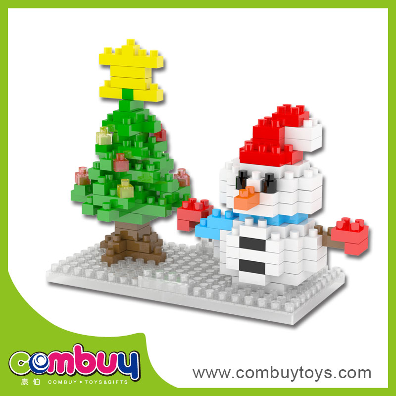 Hot sale diy santa claus building blocks 3d christmas tree toys