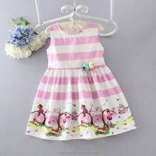 summer kids cotton frocks design pink flowers picture of children casual dress