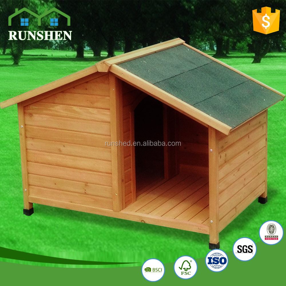 2017 Hot Sale Outdoor Wooden Dog House Heated Dog Kennel