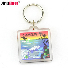 Advertising gifts clear blank transparent photo frame plastic acrylic key chain