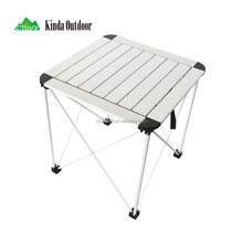 Ninghai jianda small corktail outdoor aluminum stainless steel picnic folding table