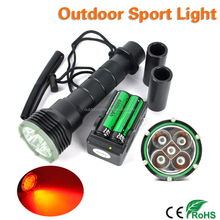 Professional Waterproof IP68 Red LED Powerful Diving Torch