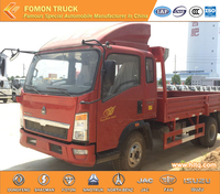 SINOTRUK HOWO Euro3 4800mm long van box 6tons 140hp dump truck