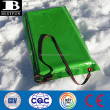 Factory custom shape cold-resistant PVC laminated fabric snow mattress with inside polyurethane foam