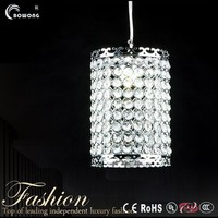 art designs crystal pendant light high quality hanging lamp in iron
