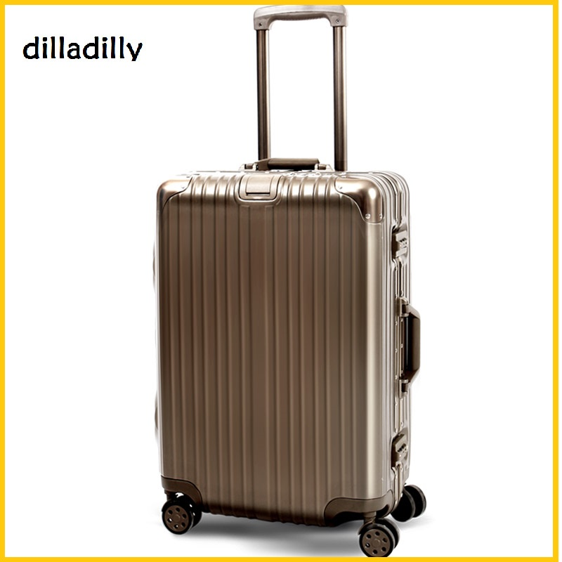 First Class 20 inch abs aluminum trolley luggage suitcase used for sale