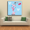Giraffe cartoon picture house kids canvas painting