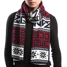 Winter latest design warm high quality 5 colors for choice floral with words muffler stylish warm men scarf