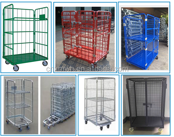 mobile security cages wire security carts