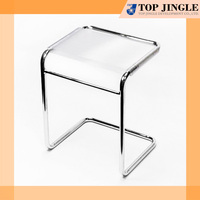 Single small sitting chair metal stool