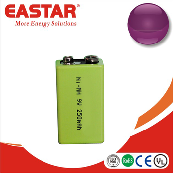 High Quality Rechargeable Nimh 250mah 9v 6f22 9v battery
