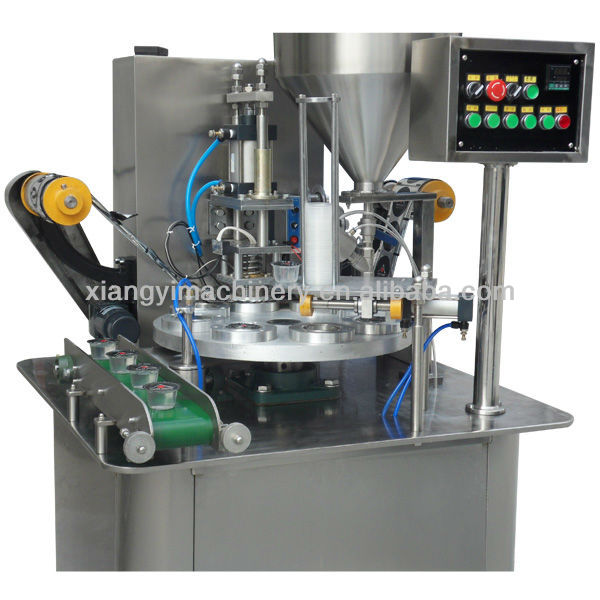 XBG50 rotary type cups filler and sealer machine supplier