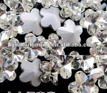 WOW!!Amazing beautiful Flower Shape Crystal Rhinestone 10MM!!2012 Paypal!!