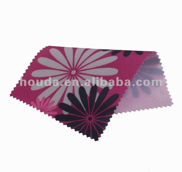 new design flower printed polyester 600D oxfordd pvc coated fabric for bags