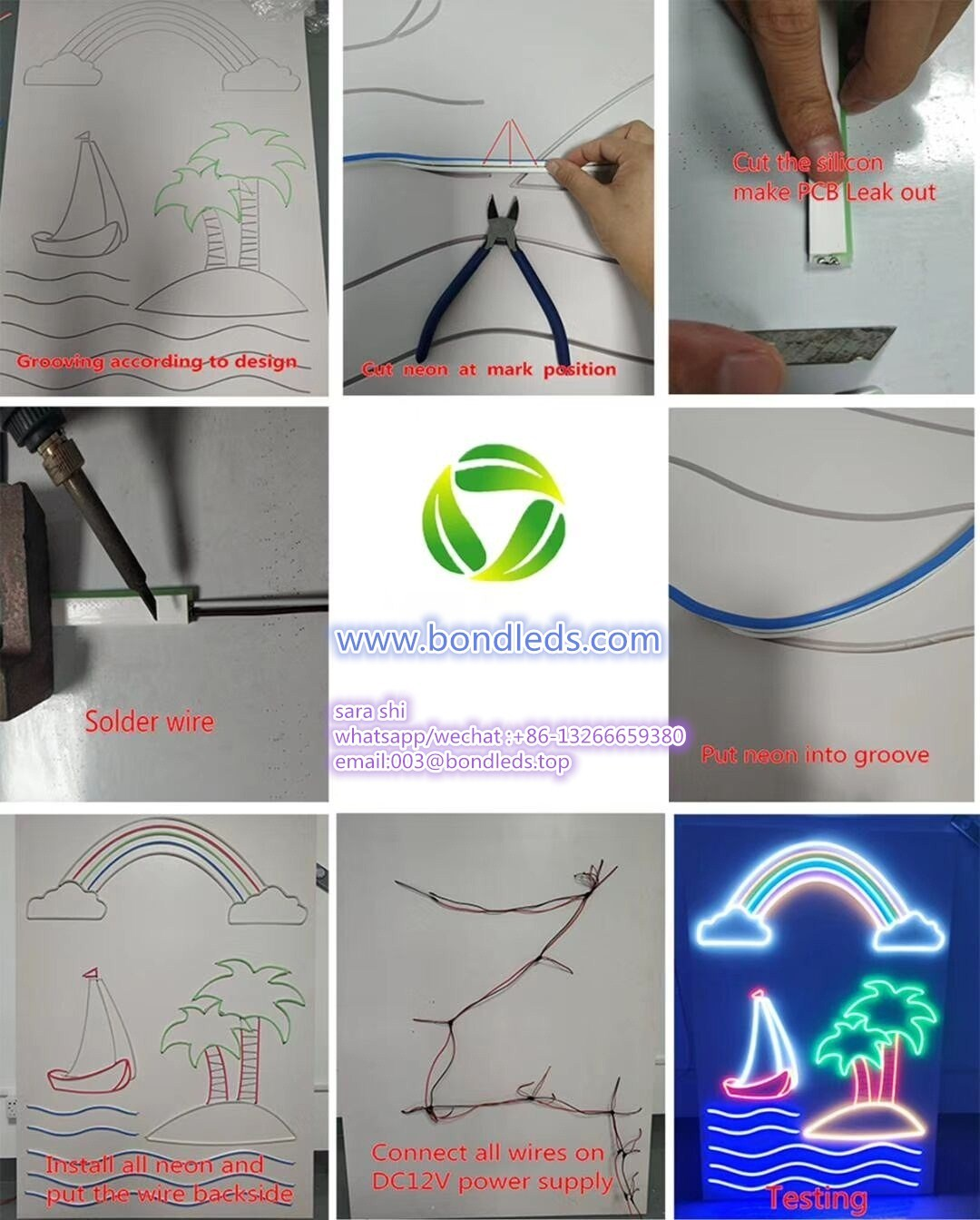 Outdoor decoration led neon  lighting SMD2835 10W  LED Neon flex LED strip light black light led strip