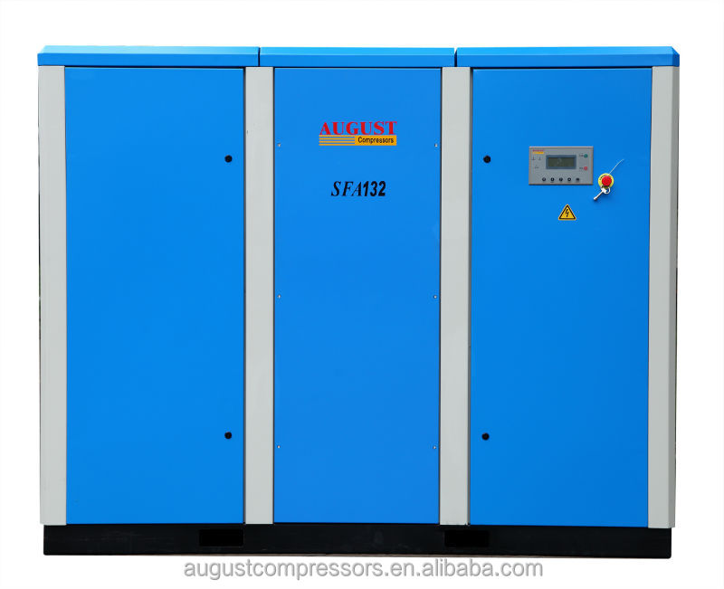 SFA132D 132KW/180HP 8 bar AUGUST stationary air cooled screw air compressor price list compressor