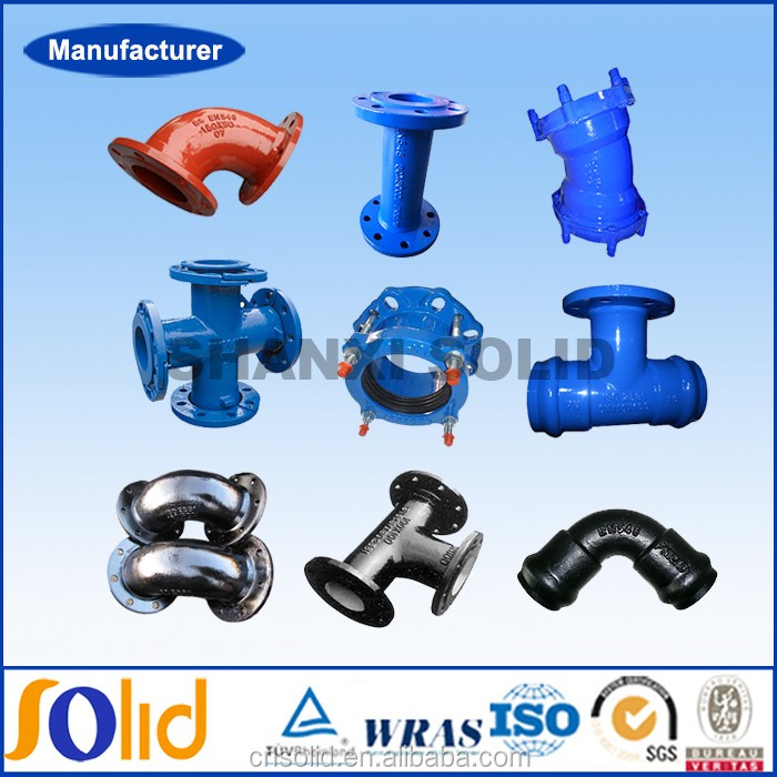 ISO2531BSEN545 BSEN598 ductile iron pipe fittings