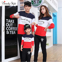 Family Look Winter Top Long-sleeve T-shirts Matching Mother And Daughter Father Son Clothes Clothing Outfits Suits Pullovers