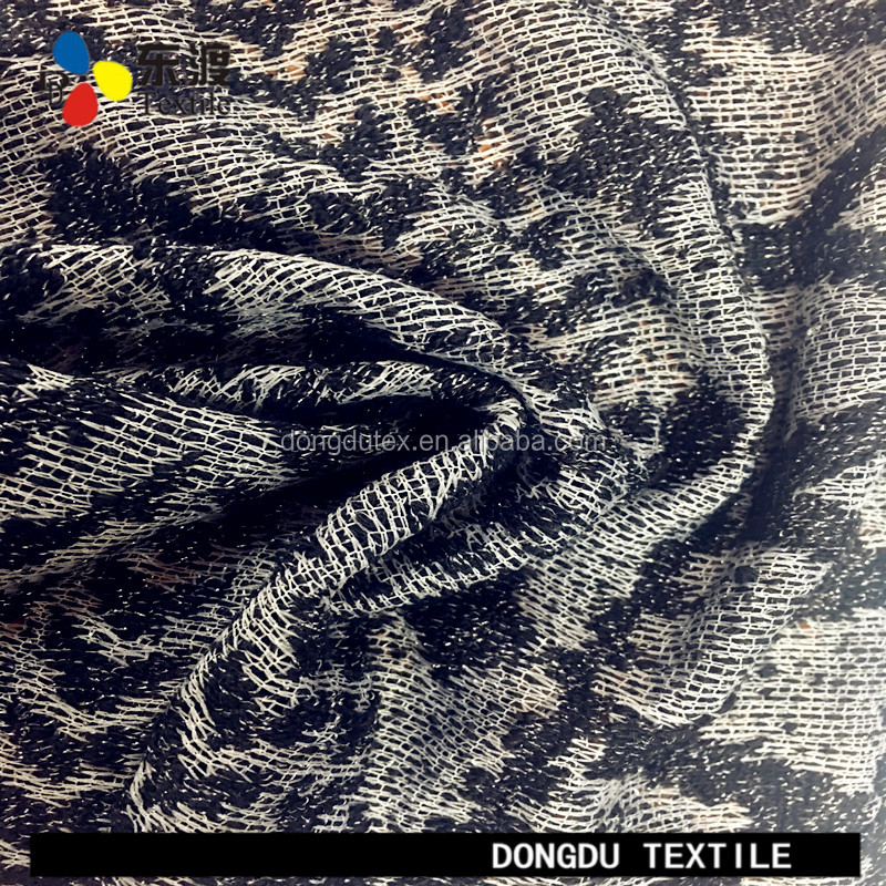 DD-6B030 grey melange color polyester metallic lurex prime knit fabric