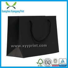 China Guangzhou wholesale black plain paper bag customized, black plain paper bag in low price