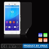 Brand Vmax !! PET Material High Clear Mobile LCD screen protector for Sony Xperia M4 Aqua