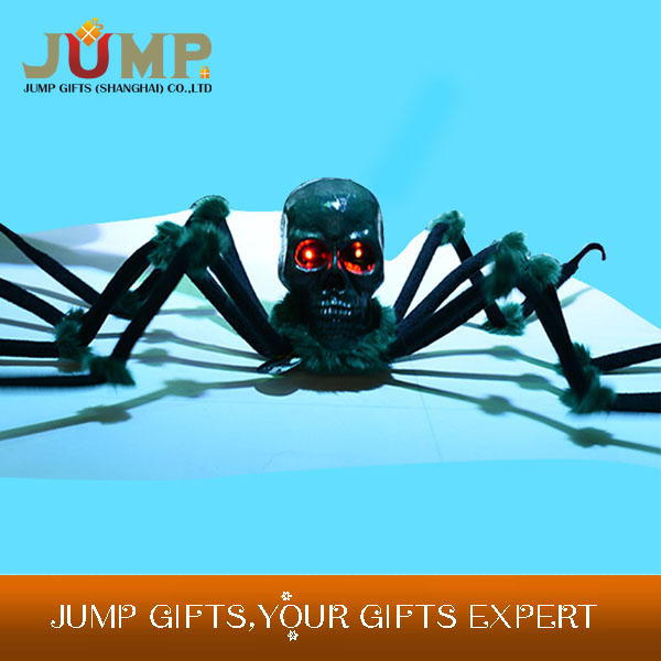 Cheapest Halloween party decoration terrorist black spider with shiny eyes