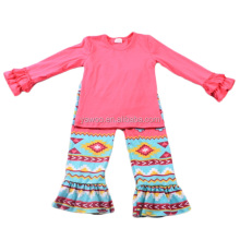 hotsale wholesale bangkok manufactures children clothes aztec ruffle pants 10 years old kid clothes new fashion kids clothing