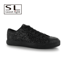 2018 Fashion style comfortable man black low top sport shoes