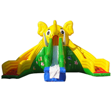 Commercial use single slip inflatable elephant slide for pool