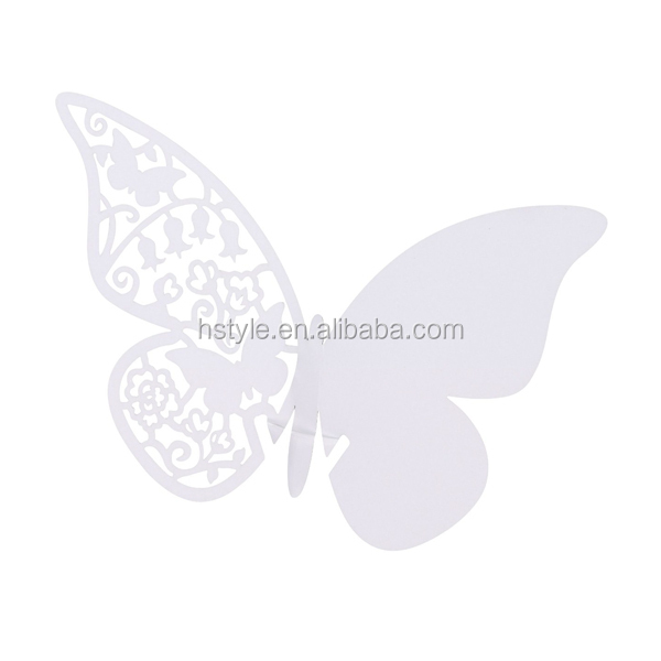 Laser Cut Paper Butterflies For Wedding Place Card SC111