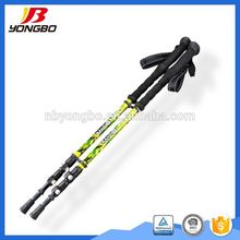 Nordic 3 sections carbon fiber walking cane gun canes and walking sticks grip for old people