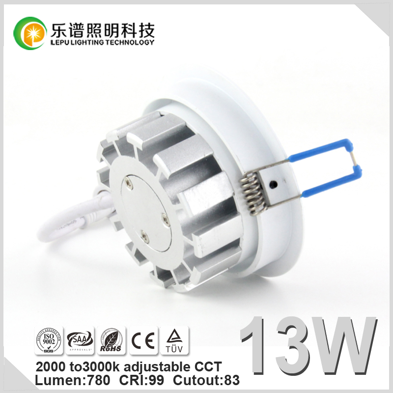 780lm New Design13W Sharp COB Downlight Ra99 CCT Adjustable 2000k-3000k