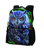 Bistar Galaxy 3D Animal Print Unisex School Backpack Bags with Big Zipper