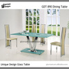 Table top glass support convertible single leg dining table