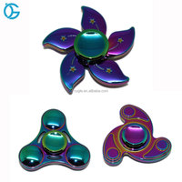 Factory Price Zinc Alloy Metal Multi Colour Fidget Toy Rainbow Fidget Spinner