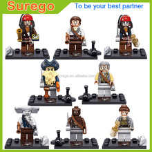 Pirates of the Caribbean Mini Action Figure Captain Jack Hook Mermaid Syrena Blackbeard Philip Andries Lorine Building Block Toy