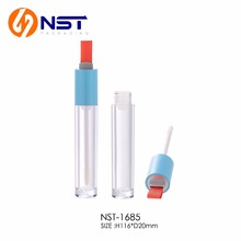 6ml empty round plastic lip gloss tube cosmetic packaging