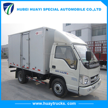 Cheap price FOTON 4x2 68hp light van cargo truck China small truck for sale