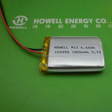 Authentic MOLI 103450 1800mah 3.7V ICP103450CA