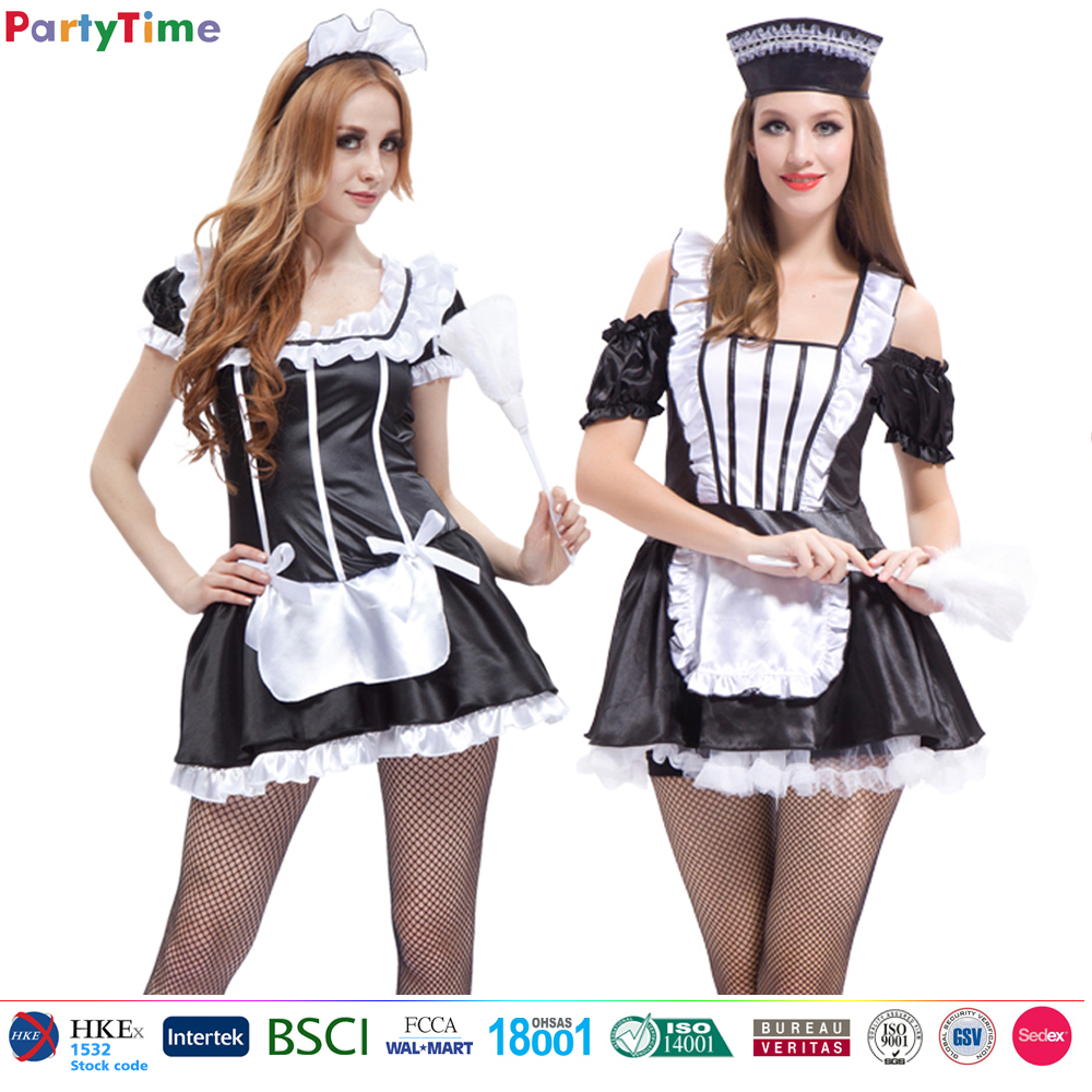 china direct sell cosplay hot sexy french maid costume