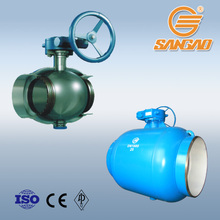 sangao fully welded ball valve hard metal seal 150lb ball valve weld ball valve dn900 pn25